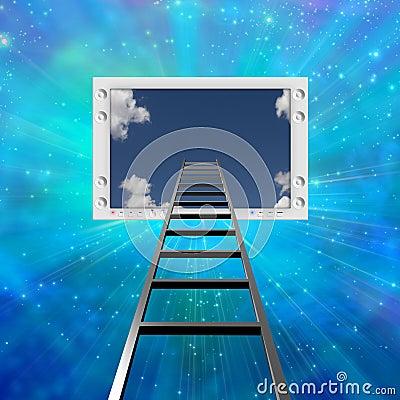 Ladder lead into Flat Panel