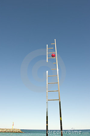 Ladder leading into open space