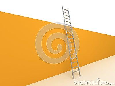 Ladder lean against wall