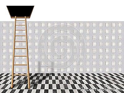 Ladder into loft