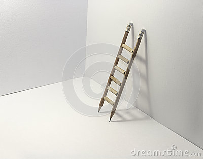 Ladder Made from Pencils