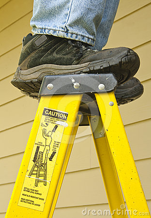 Free Ladder Safety Concept Royalty Free Stock Photography - 24594747