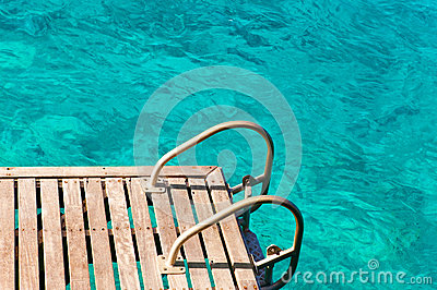 Ladder in the sea