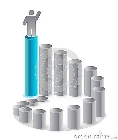 Ladder of success illustration design