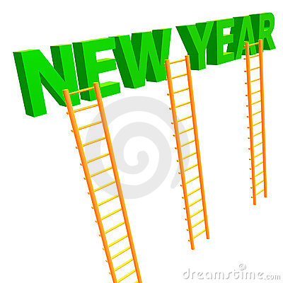 The ladder to 2010 new year