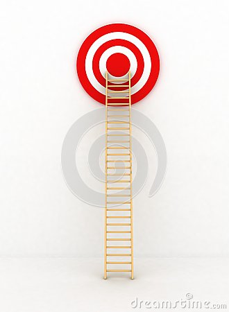 Ladder to middle of target