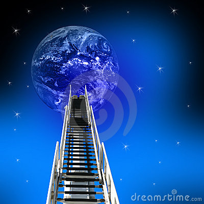 Ladder to Success up to earth