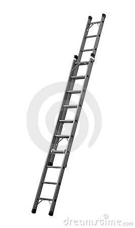 Free Ladder &x28;Clipping Path&x29; Isolated On White Background Stock Image - 12872091