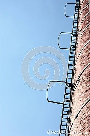 Ladders, blue sky