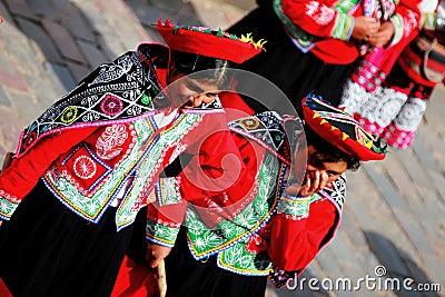 Ladies From Cusco Editorial Stock Photo