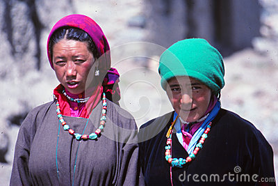 Ladies at festival in Ladakh, India Editorial Stock Photo