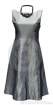 Ladies grey dress, clipping path