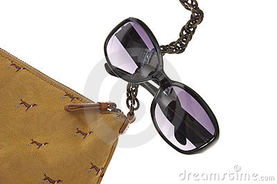 Ladies Handbag with Black Sunglasses