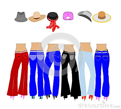 Ladies in jeans