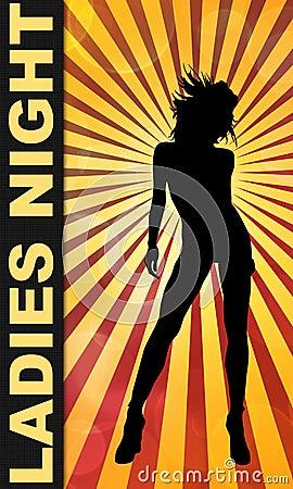 Ladies Night Bar or Club Poster