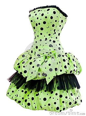 Ladies  polka dot cocktail dress