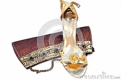 Ladies purse and footwear