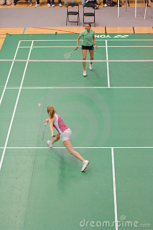 LADIES  SINGLES BADMINTON Editorial Photo