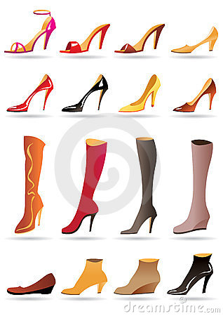 Free Ladies Slippers, Shoes And Boots Royalty Free Stock Photography - 23458287