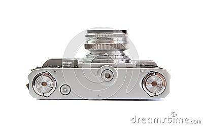 Lado de baixo da câmera do rangefinder da película do vintage 35mm