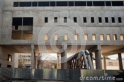 Lado do edifício concreto