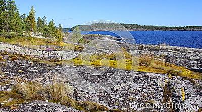 Ladoga lake, Karelia, Russia