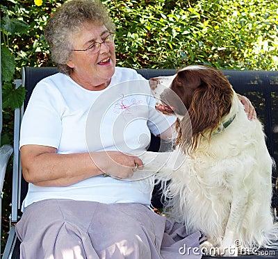 Free Lady And Dog Stock Image - 3032001