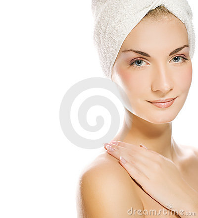 Lady Applying Moisturizer Stock Image - Image: 5765261