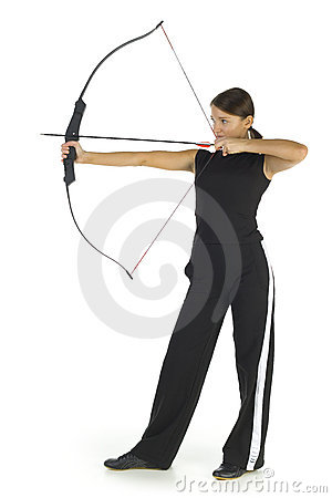 Free Lady Archer Royalty Free Stock Photography - 3805607