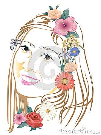 Lady art design