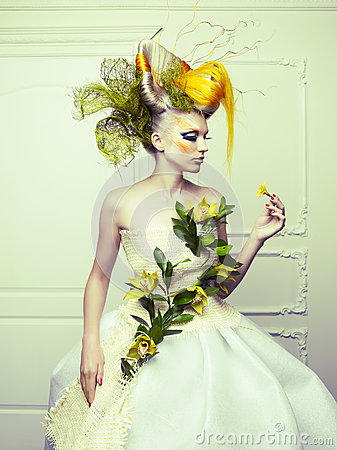 Lady with avant-garde hair