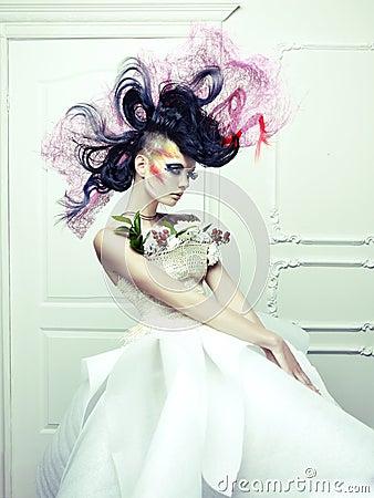 Lady with avant-garde hair