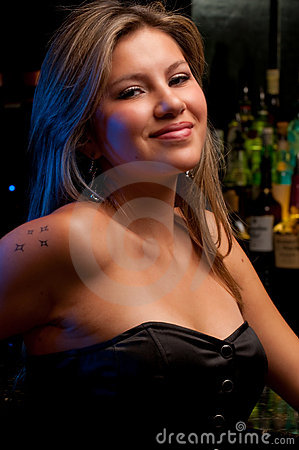 Lady in the bar