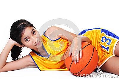 Lady basketball player