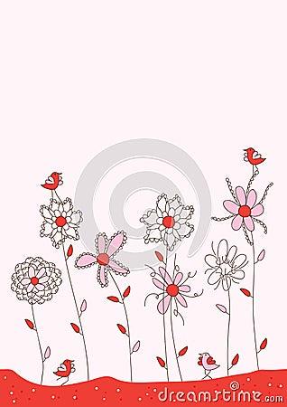 Lady Bird Pink Card_eps