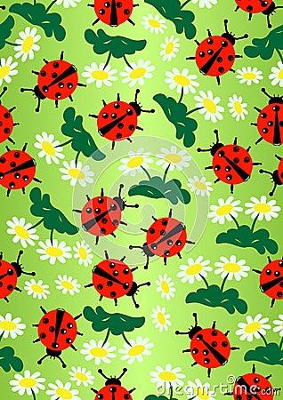 Free Lady Bug&daisy Stock Image - 7138181