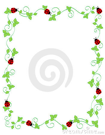 Free Lady Bug Frame Stock Photo - 19296530