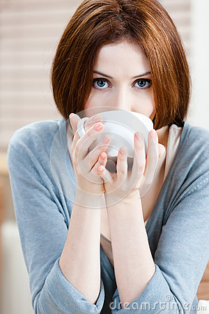 Lady with cup of tea