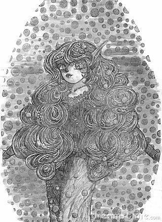 Lady With Curls And Locks