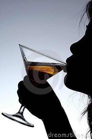Free Lady Drinking Wine Stock Photos - 5852353
