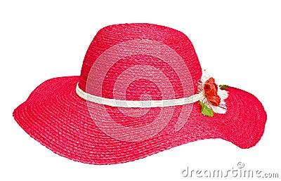 Lady fashion red hat