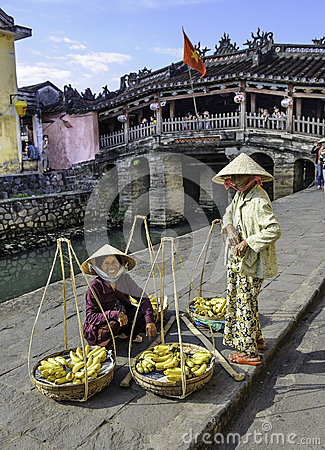 Fruit sellers in hoi an in vietnam Editorial Stock Photo