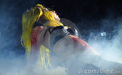 Lady Gaga Live Feb_28_2011 Editorial Stock Image