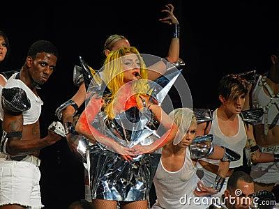 Lady Gaga Live Feb_28_2011 Editorial Photography
