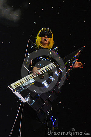 Lady Gaga Live Feb_28_2011 Editorial Photo