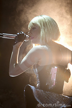 Lady gaga singing in Cologne Editorial Image