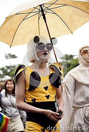 Lady GayGay 2010 Taiwan LGBT Pride Parade Editorial Stock Image