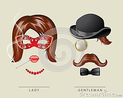 Lady and gentleman fancy dress