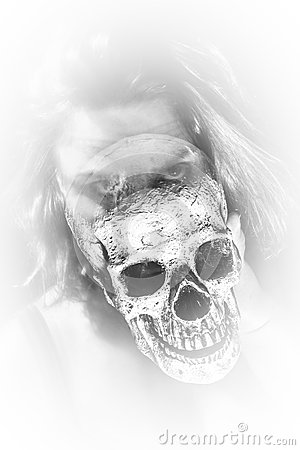 Free Lady Ghost Skull Stock Image - 37944671