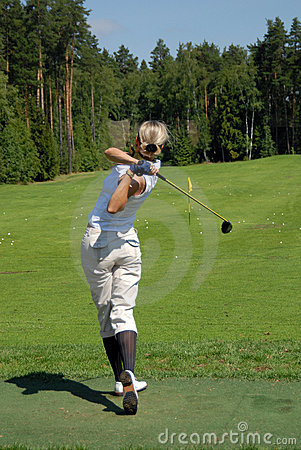 Lady Golfers Swing at Moscow s Country Club Editorial Photo